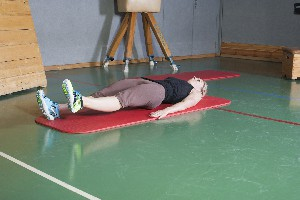 Hintere/dorsale-diagonale Muskelkette