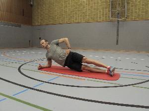 Äußere/laterale Muskelkette (rechte Körperseite)